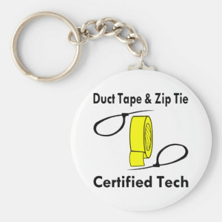 Duct Tape & Zip Tie Certified Tech Keychain