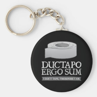 Ductapo Ergo Sum.  I duct tape, therefore I am. Keychain