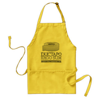 Ductapo Ergo Sum.  I duct tape, therefore I am. Apron