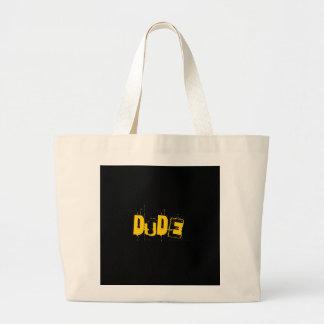 Dude Cool Artwork Large Tote Bag