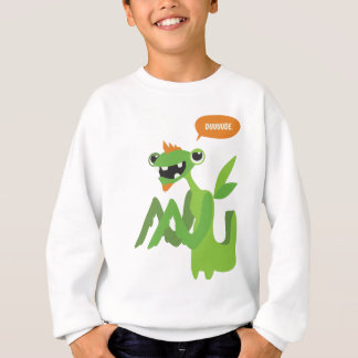 dude, cute cool animal cartoon design sweatshirt