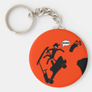 DUDE off the deck-2 Basic Round Button Keychain