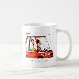 Dude Stereo cartoon Basic White Mug