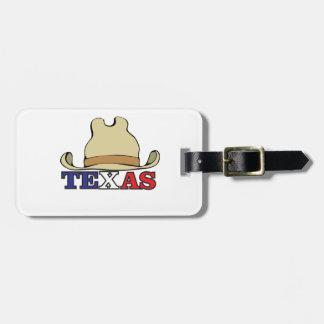 dude texas luggage tag