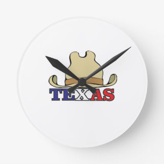 dude texas round clock