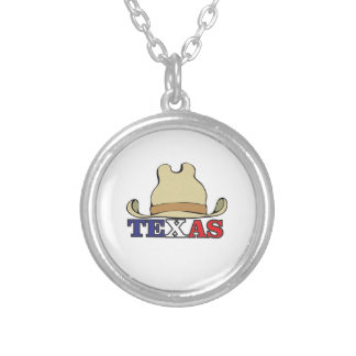 dude texas silver plated necklace