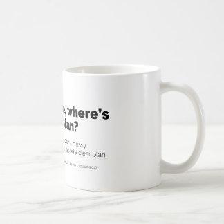 Dude, where's the plan? mug