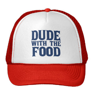 Dude With The Food Blue Trucker Hat