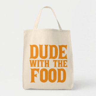 Dude With The Food Orange Tote Bag