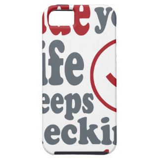 dude your wife keeps checking me out iPhone 5 cover