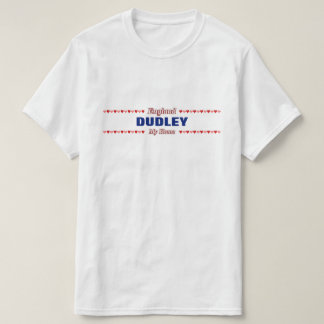 DUDLEY - My Home - England; Red & Pink Hearts T-Shirt