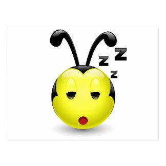 Dudu Bee sleepy Postcard