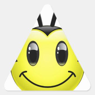 Dudu Bee Smiley Triangle Stickers