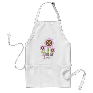 Due in April Expectant Mother Adult Apron