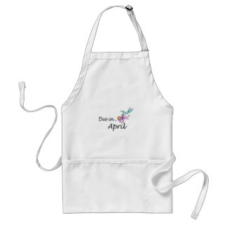 Due In April (Pink) Adult Apron