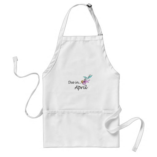 Due In April (Pink) Aprons