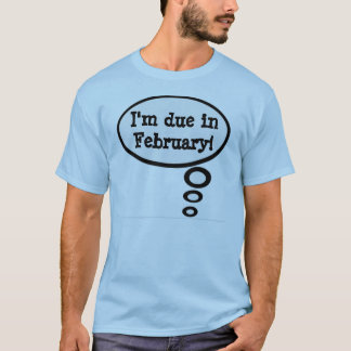 Due in February Pregnancy Shirt