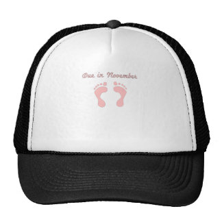 DUE IN NOVEMBER PINK BABY FEET.png Trucker Hat
