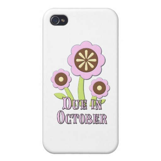 Due in October Expectant Mother iPhone 4/4S Case