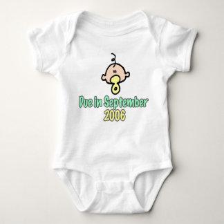 Due in September 2006 Baby Bodysuit