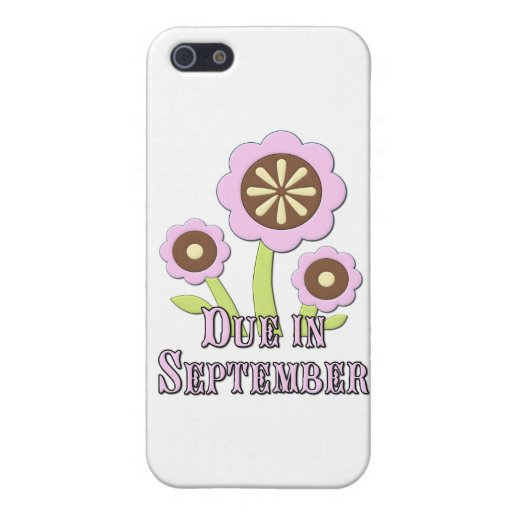 Due in September Expectant Mother iPhone 5 Case