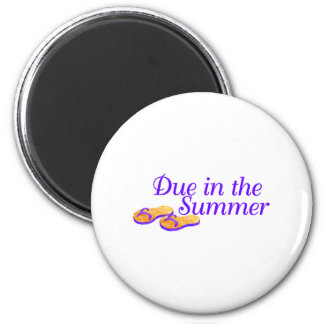 Due In Summer (Purple) Magnet