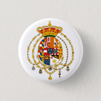 Due Sicilie Coat of Arms 1 Inch Round Button