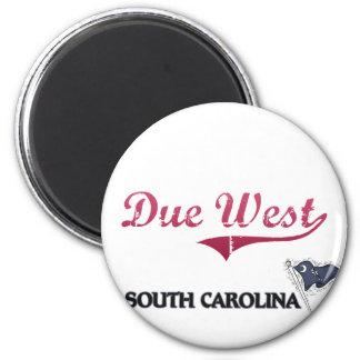 Due West South Carolina City Classic Refrigerator Magnet