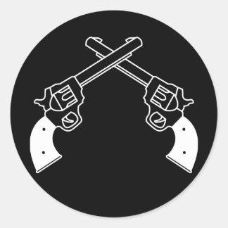 Duel Pistols Round Sticker