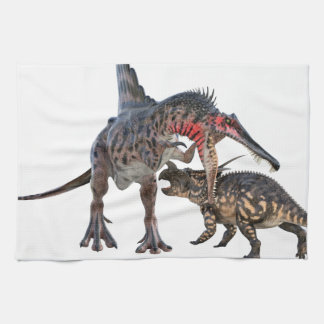 Dueling Dinosaurs Kitchen Towel