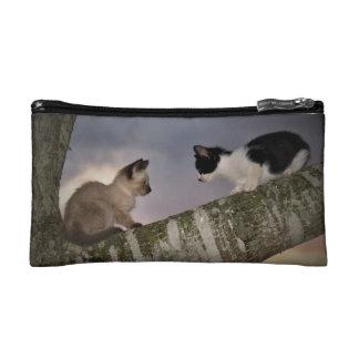 Dueling Kittens Makeup Bag