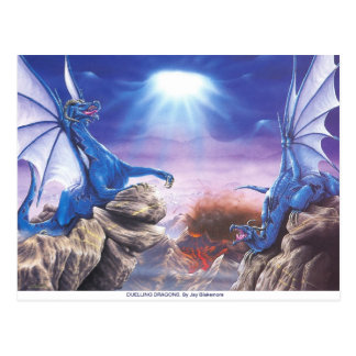 DUELLING DRAGONS POST CARD