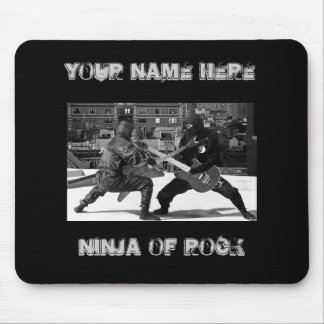 Duelling ninjas mouse pad