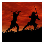 Duelling Samurai Poster
