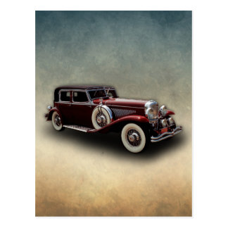 Duesenberg (Duesy) Model J Classic Car Postcard