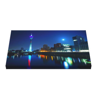Duesseldorf as canvas picture