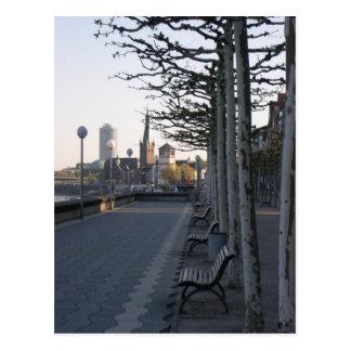 Duesseldorf Rhine promenade Postcard