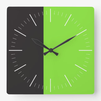 DUET | black and any color Square Wall Clock