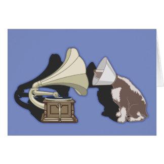 Duet - Dog & Gramophone Card