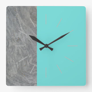 DUET | marble and any color Square Wall Clock