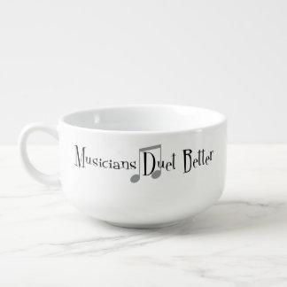 Duet (Notes) Soup Mug