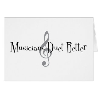 Duet (Treble) Greeting Card