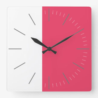 DUET | white plus any color Square Wall Clock