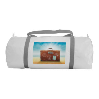 Duffle Gym Bag with travel motive