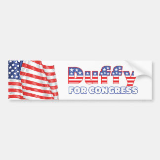 Duffy for Congress Patriotic American Flag Bumper Stickers