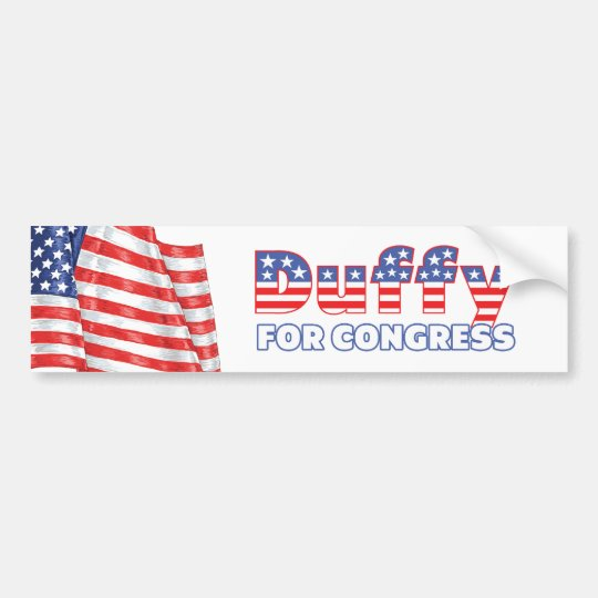 Duffy for Congress Patriotic American Flag Bumper Sticker