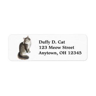 Duffy the Cat Label Return Address Label