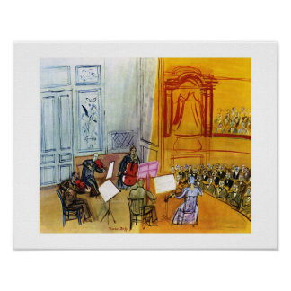DUFY THE QUINTET WITH RED CELLO 11x14 Poster