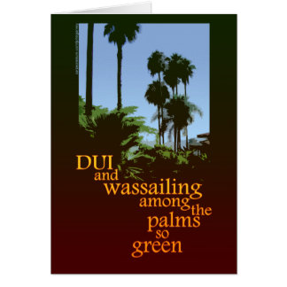 DUI Wassail Christmas card