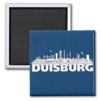 Duisburg city of skyline - magnet /K